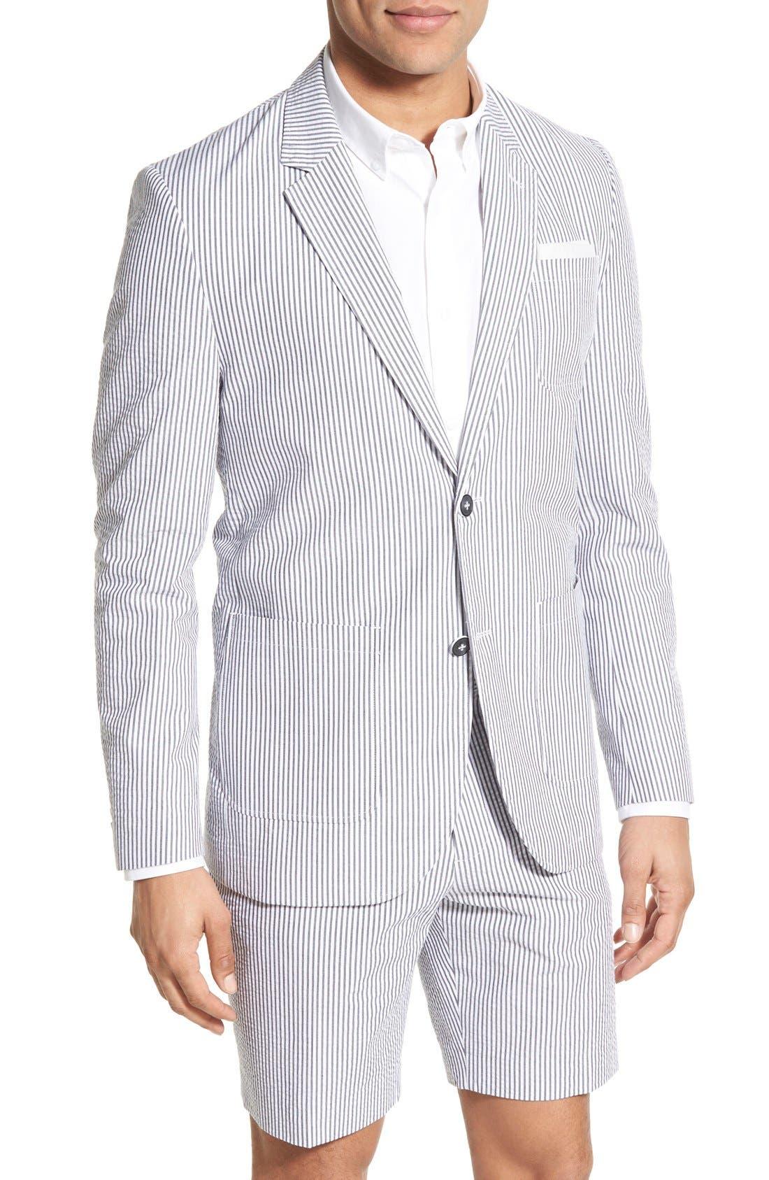 Singer + Sargent Regular Fit Seersucker Cotton Blazer