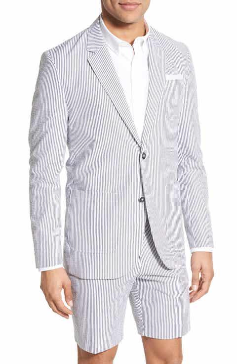 Singer   Sargent Regular Fit Seersucker Cotton Blazer