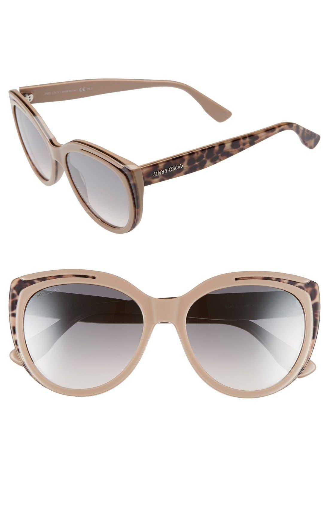 Alternate Image 1 Selected - Jimmy Choo 'Nicky' 56mm Cat Eye Sunglasses
