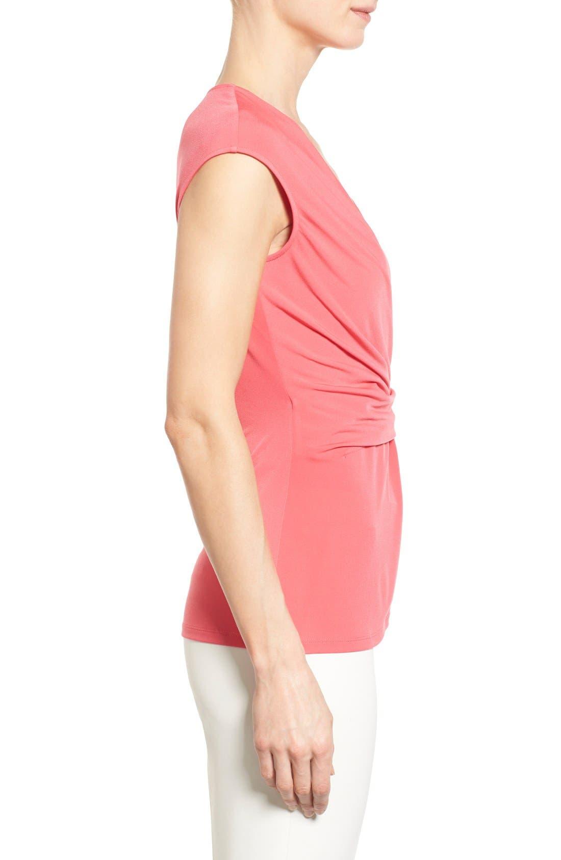 Alternate Image 3  - Ellen Tracy Side Twist Cap Sleeve Top