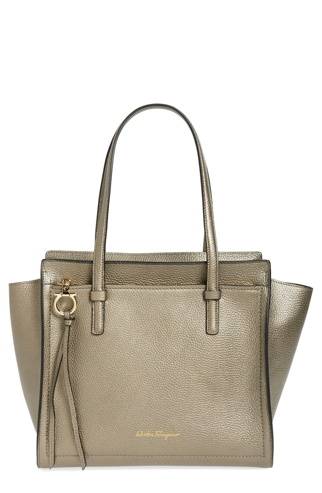 SALVATORE FERRAGAMO 'Medium Amy' Leather Tote