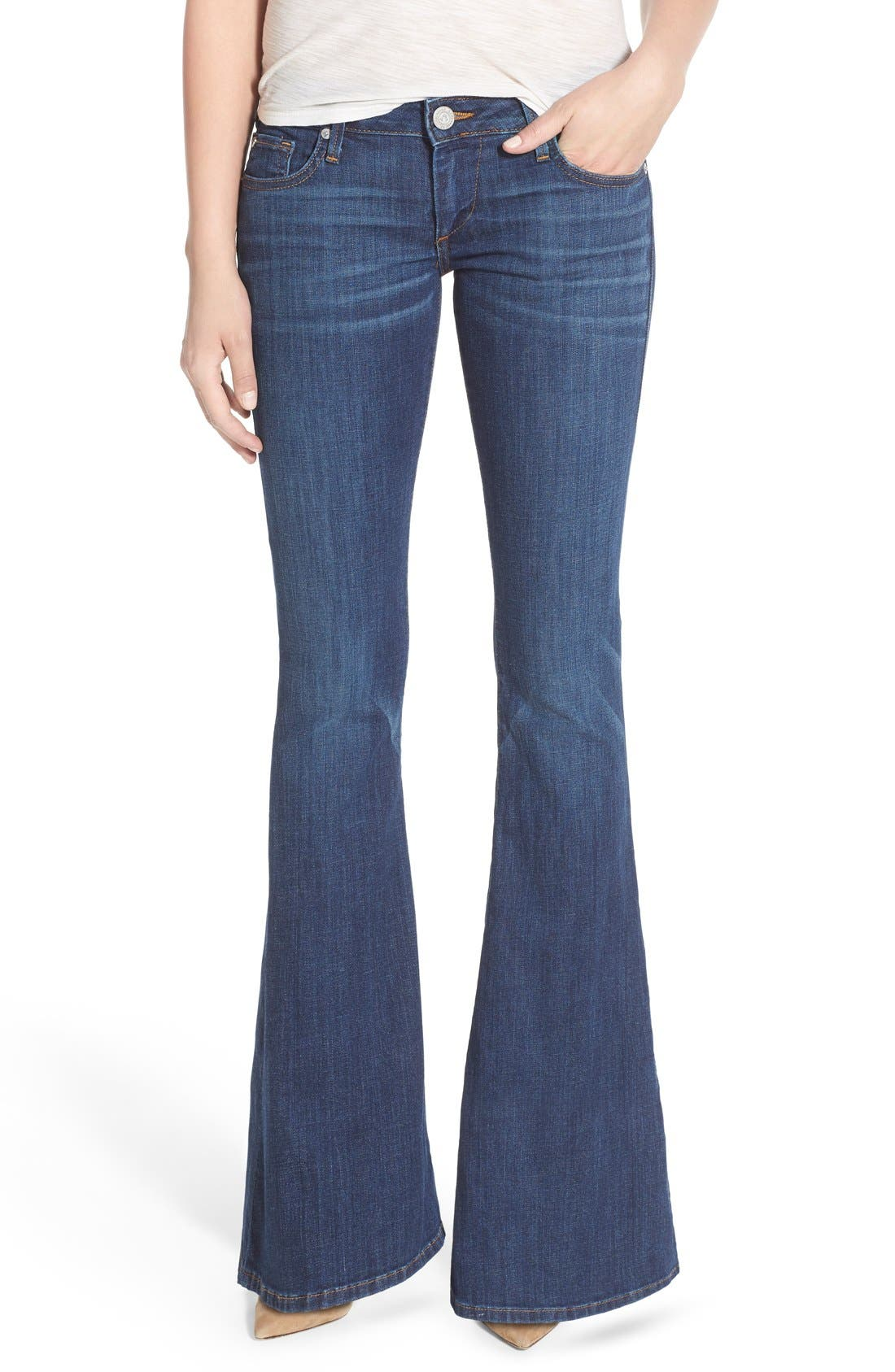 Alternate Image 1 Selected - True Religion Brand Jeans 'Karlie' Bell Bottom Jeans (Worn Vintage)