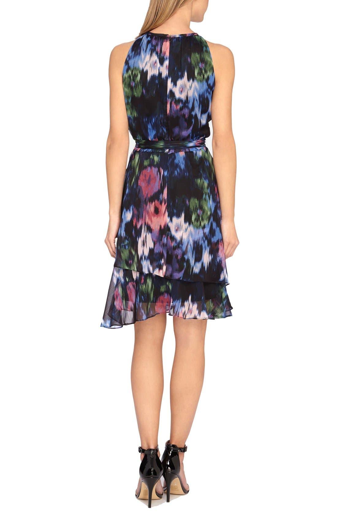 Alternate Image 2  - Tahari Print Chiffon Fit & Flare Dress (Regular & Petite)