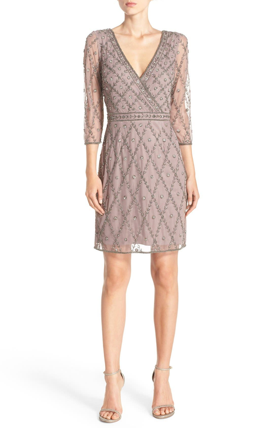 Alternate Image 4  - Adrianna Papell Embellished Mesh Sheath Dress