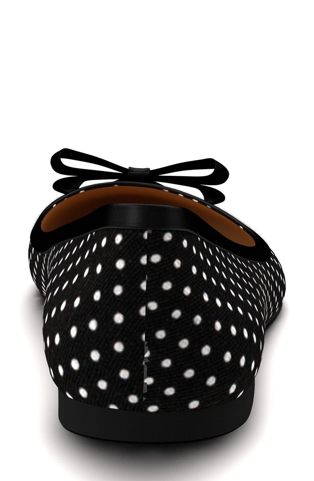 Alternate Image 2  - Shoes of Prey Polka Dot Ballet Flat (Women)