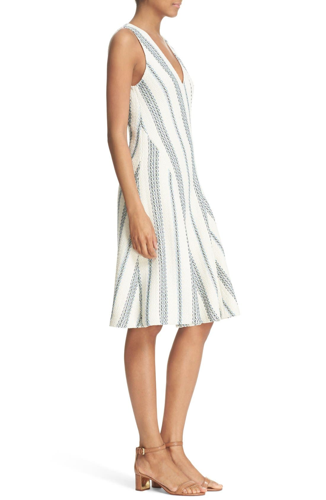 Alternate Image 3  - Tory Burch 'Stacey' Stripe Tweed A-Line Dress