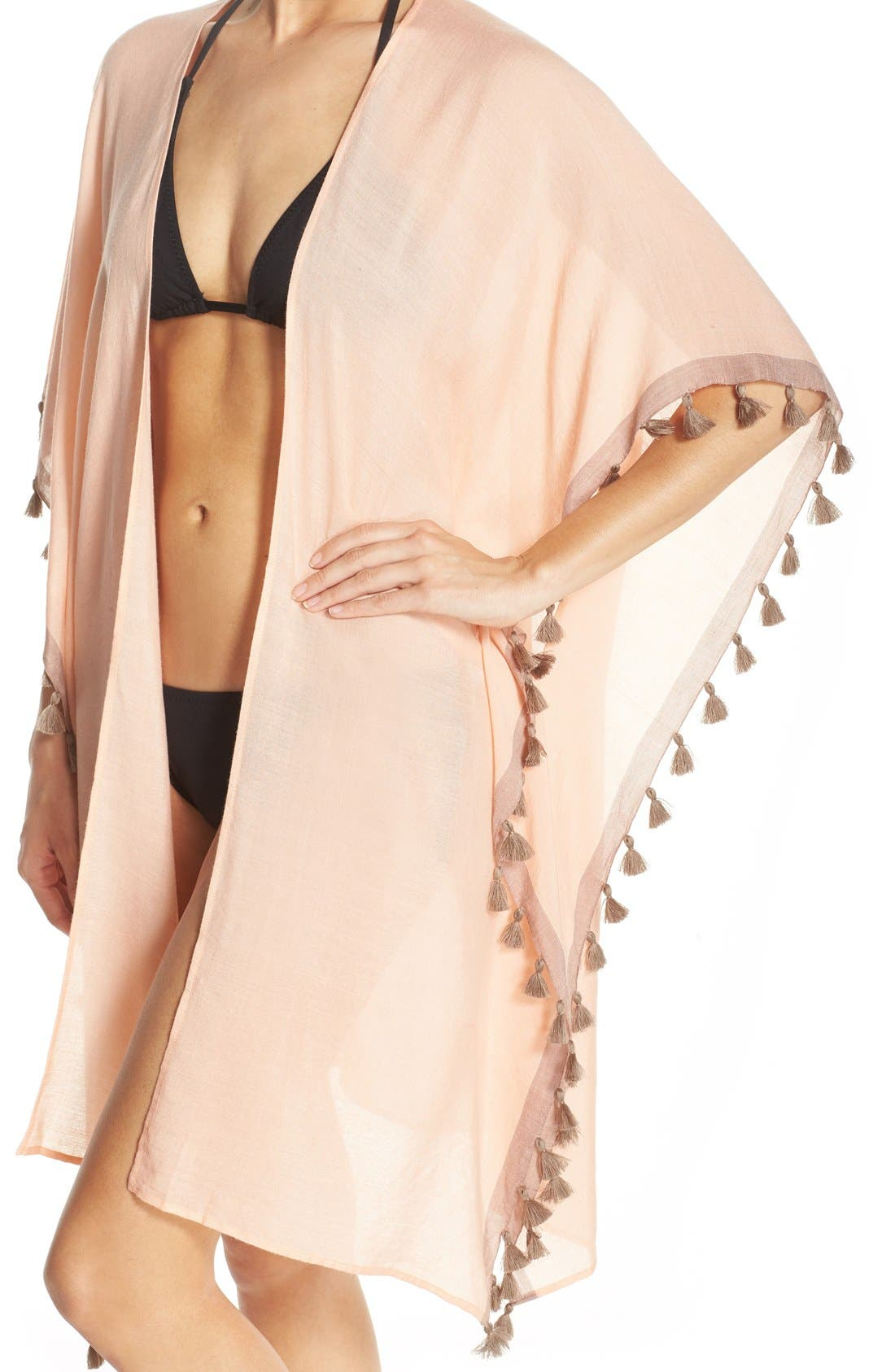 Alternate Image 4  - ale BY ALESSANDRA 'Mother Earth' Tassel Trim Cover-Up Kimono