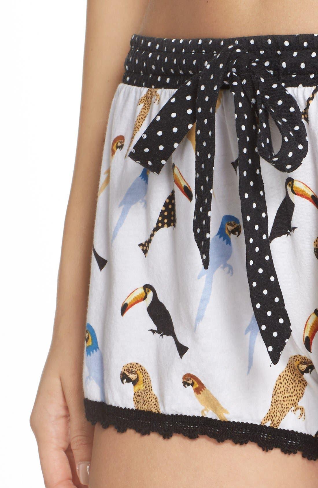 Alternate Image 4  - PJ Salvage Bird Print Pajama Shorts