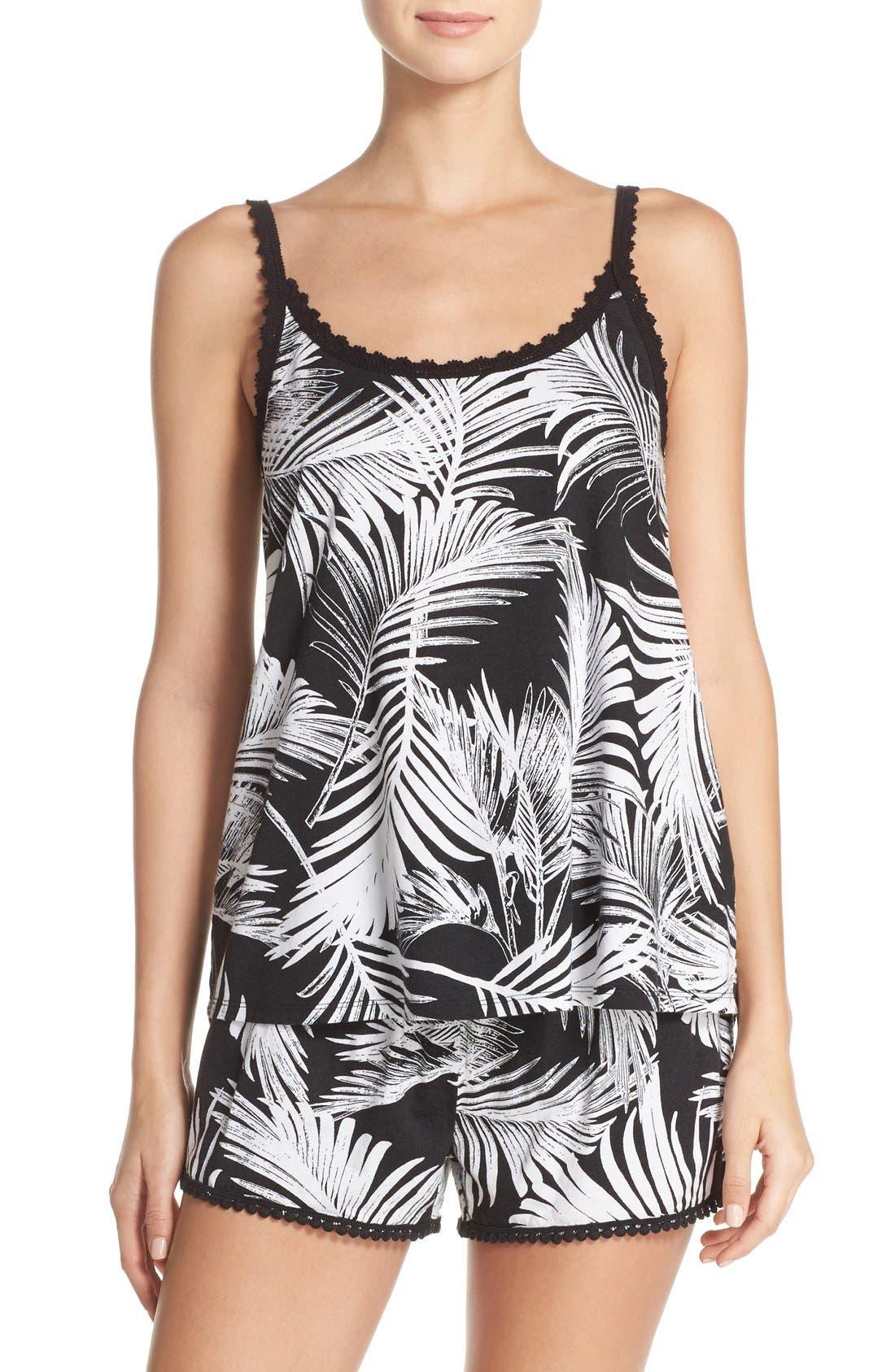 Alternate Image 6  - PJ Salvage Palm Print Pajama Shorts