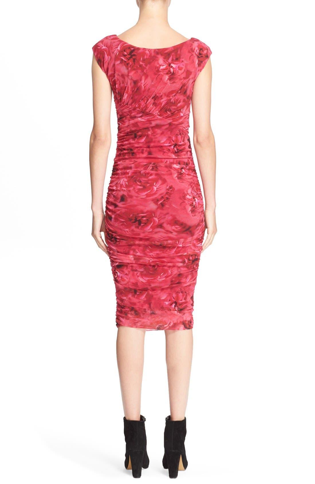 Alternate Image 2  - Fuzzi Rose Print Ruched Tulle Dress