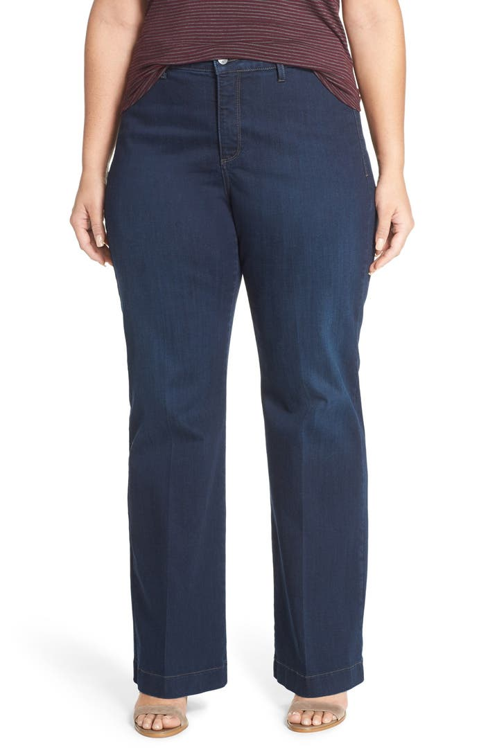 Related to Long Stretch Elastic Waist Wide Leg Work Pants - Black - 2xl