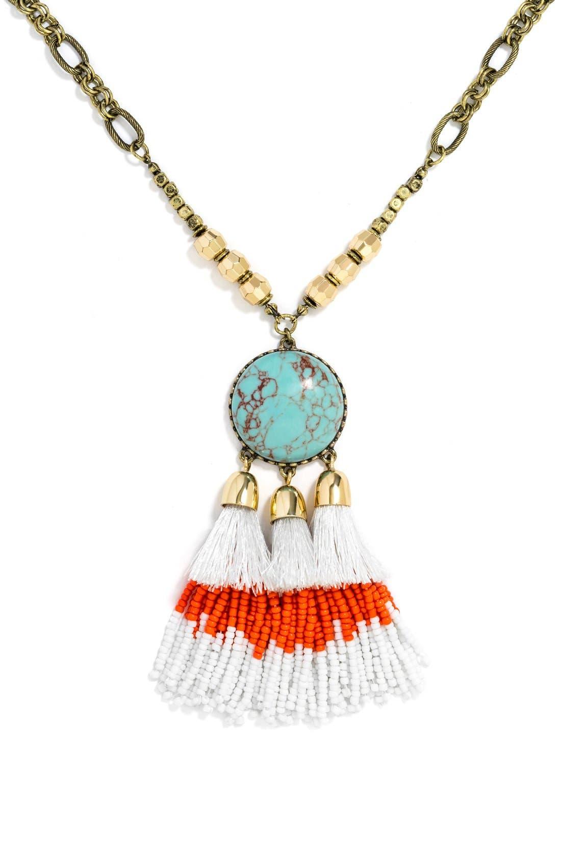 Alternate Image 2  - BaubleBar 'Rhodes' Tassel Pendant Necklace