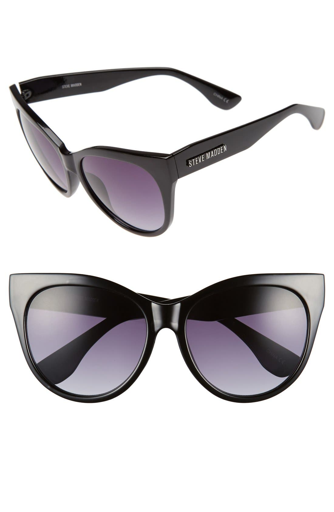 Alternate Image 1 Selected - Steve Madden 58mm Oversized Cat Eye Sunglasses