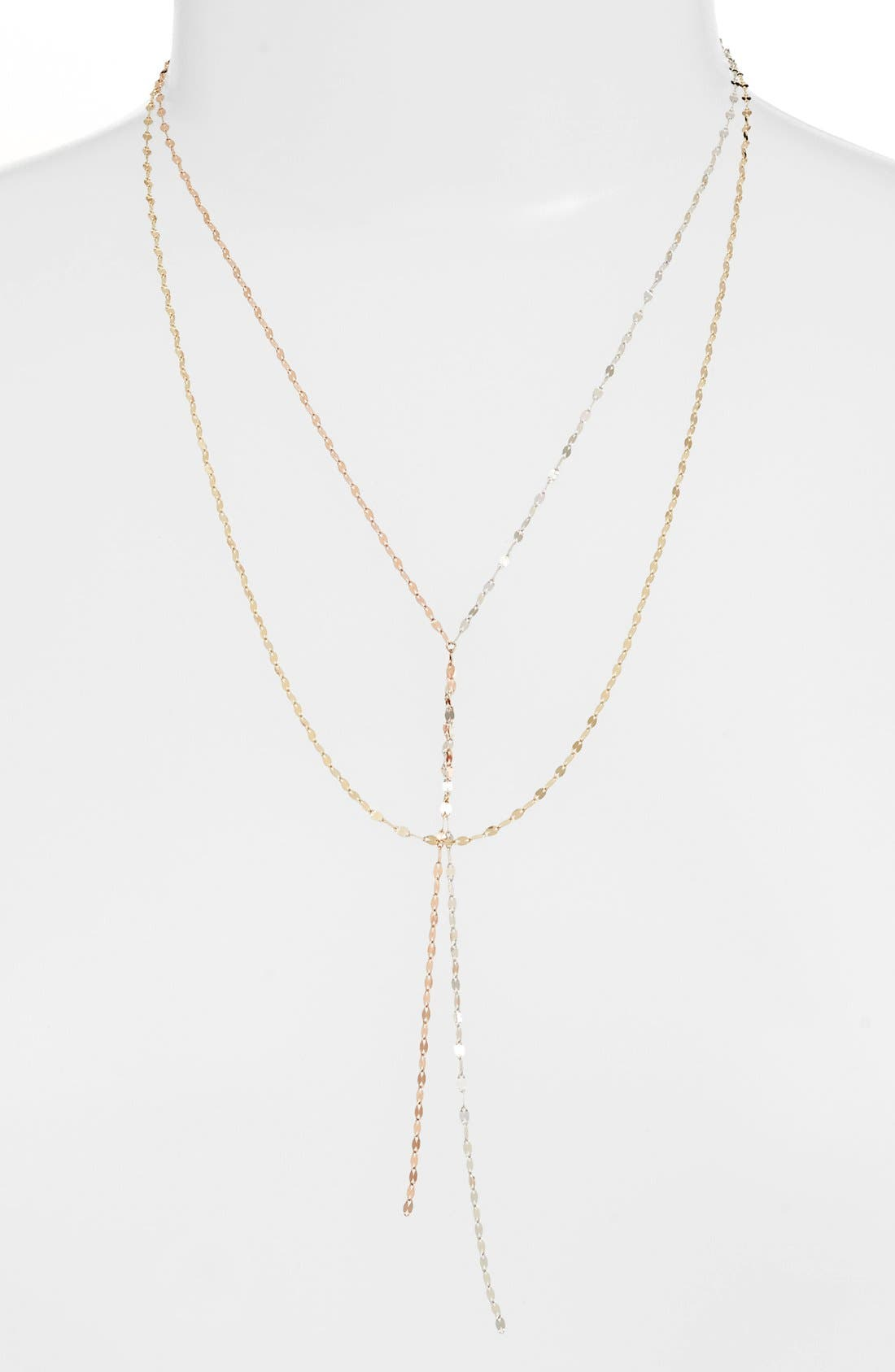 Lana Jewelry 'Blake' Tri Color Lariat Necklace