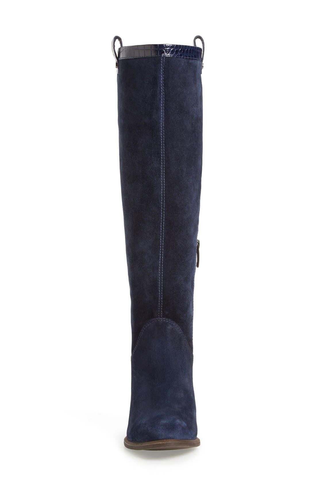 Alternate Image 3  - UGG® 'Ava Croco' Tall Suede Boot (Women)