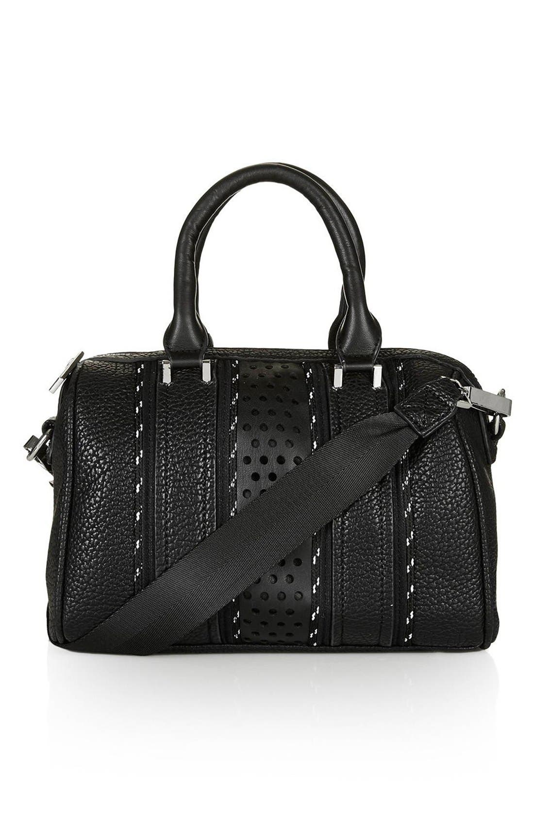 Alternate Image 1 Selected - Topshop 'Tokyo' Sporty Faux Leather Bowler Satchel