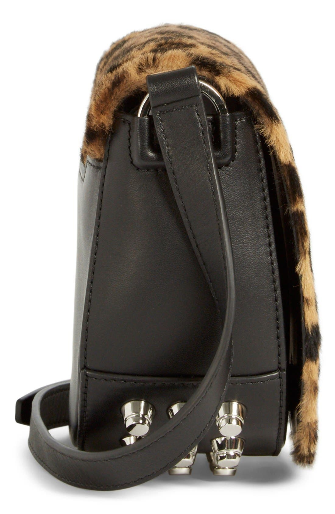 Alternate Image 5  - Alexander Wang 'Mini Lia' Cheetah Print Genuine Kangaroo Fur Crossbody Bag
