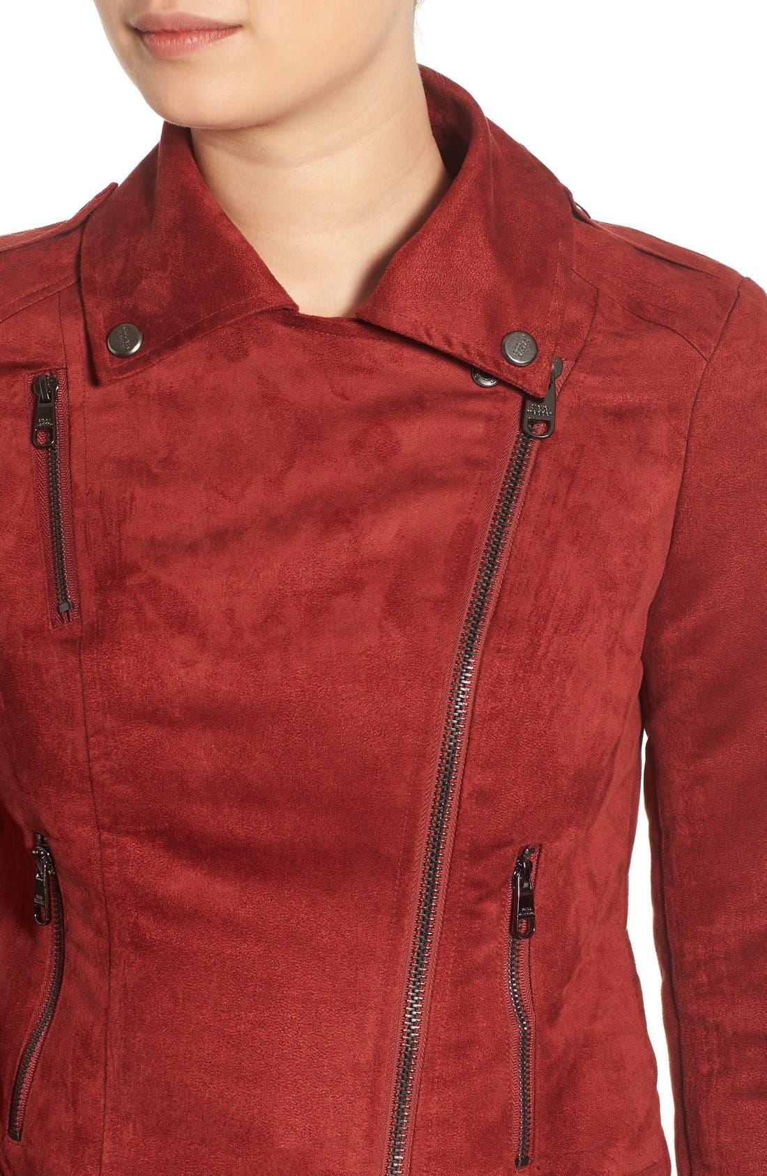Alternate Image 4  - Steve Madden Faux Suede Moto Jacket
