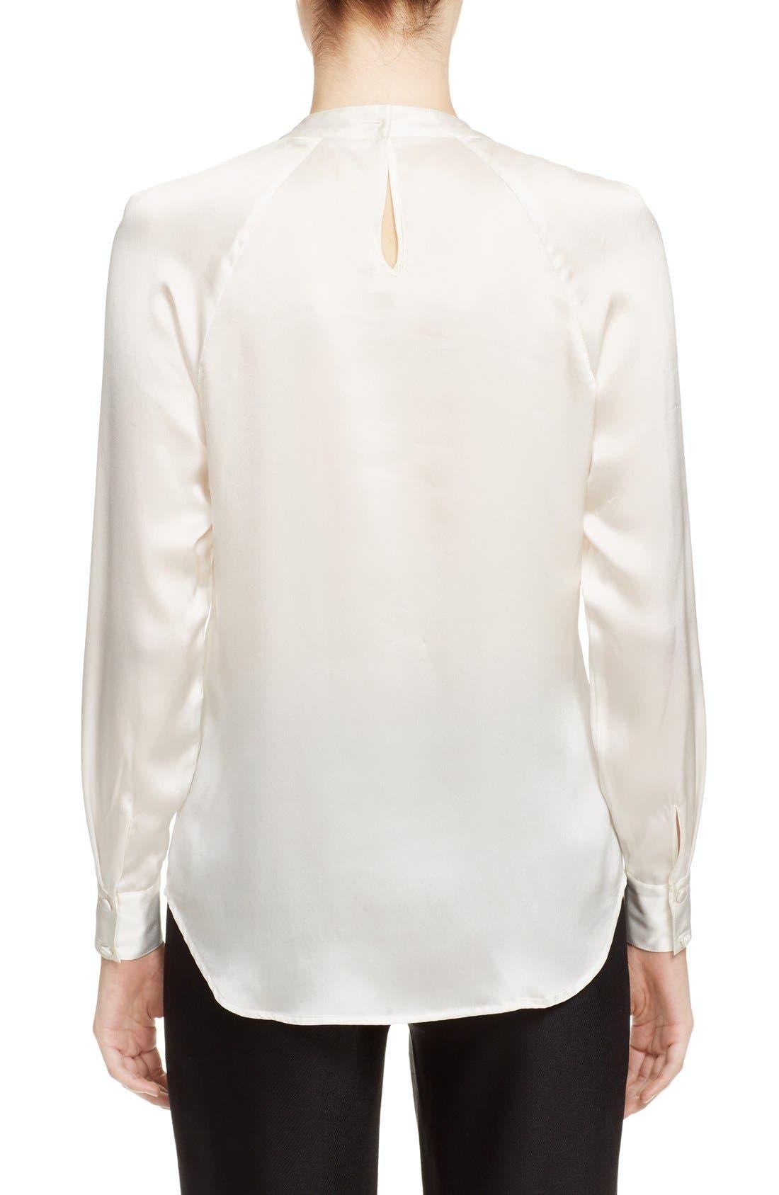 Alternate Image 2  - Veronica Beard 'Riverside' Ruffle Neck Silk Blouse