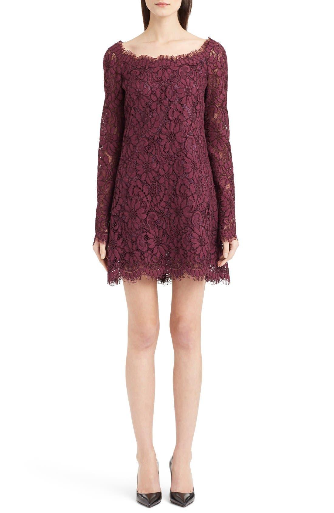 Main Image - Dolce&Gabbana Scoop Neck Lace Shift Dress