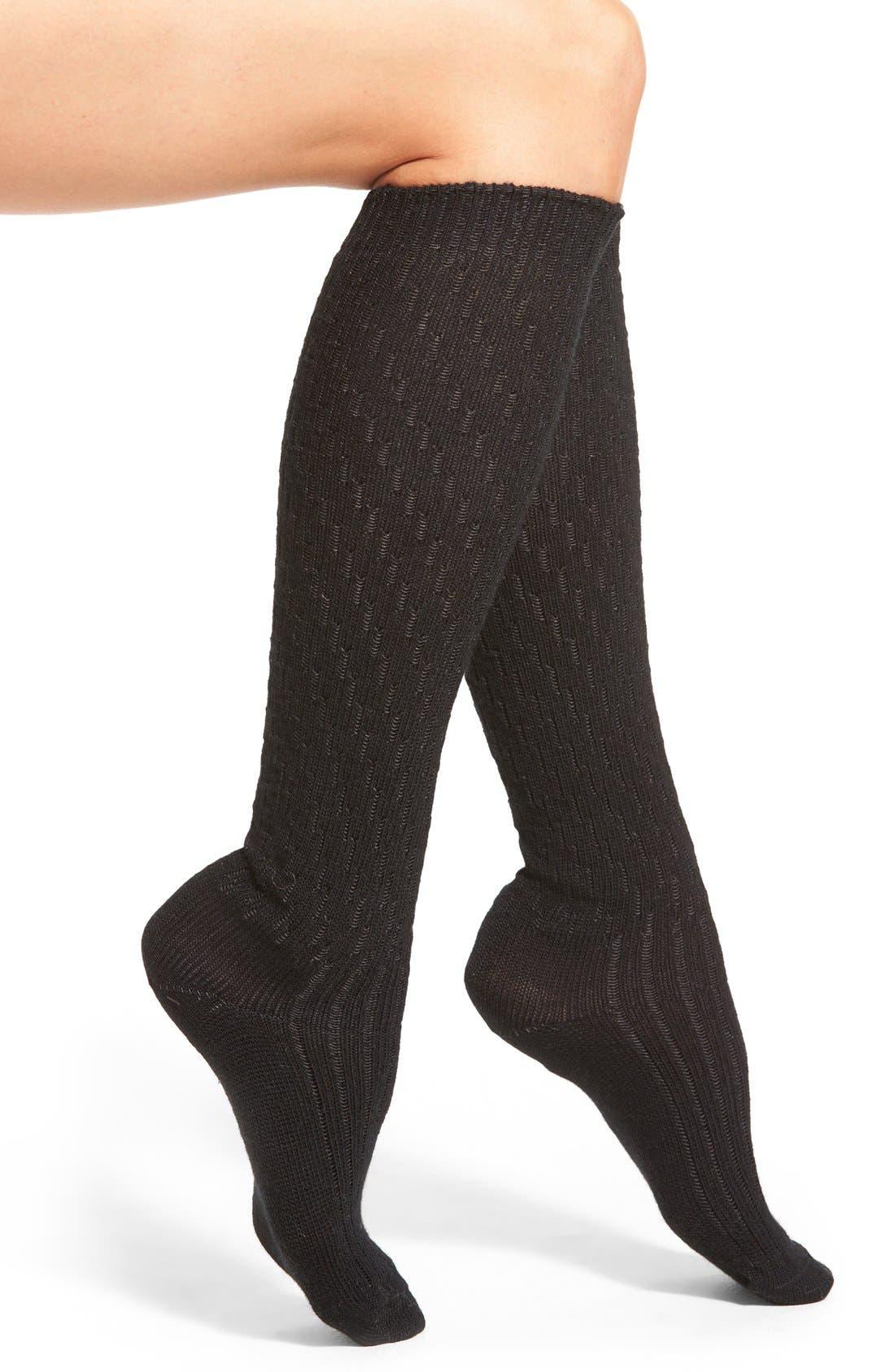 Main Image - Wigwam 'Retro Lilly' Merino Wool Blend Knee High Socks