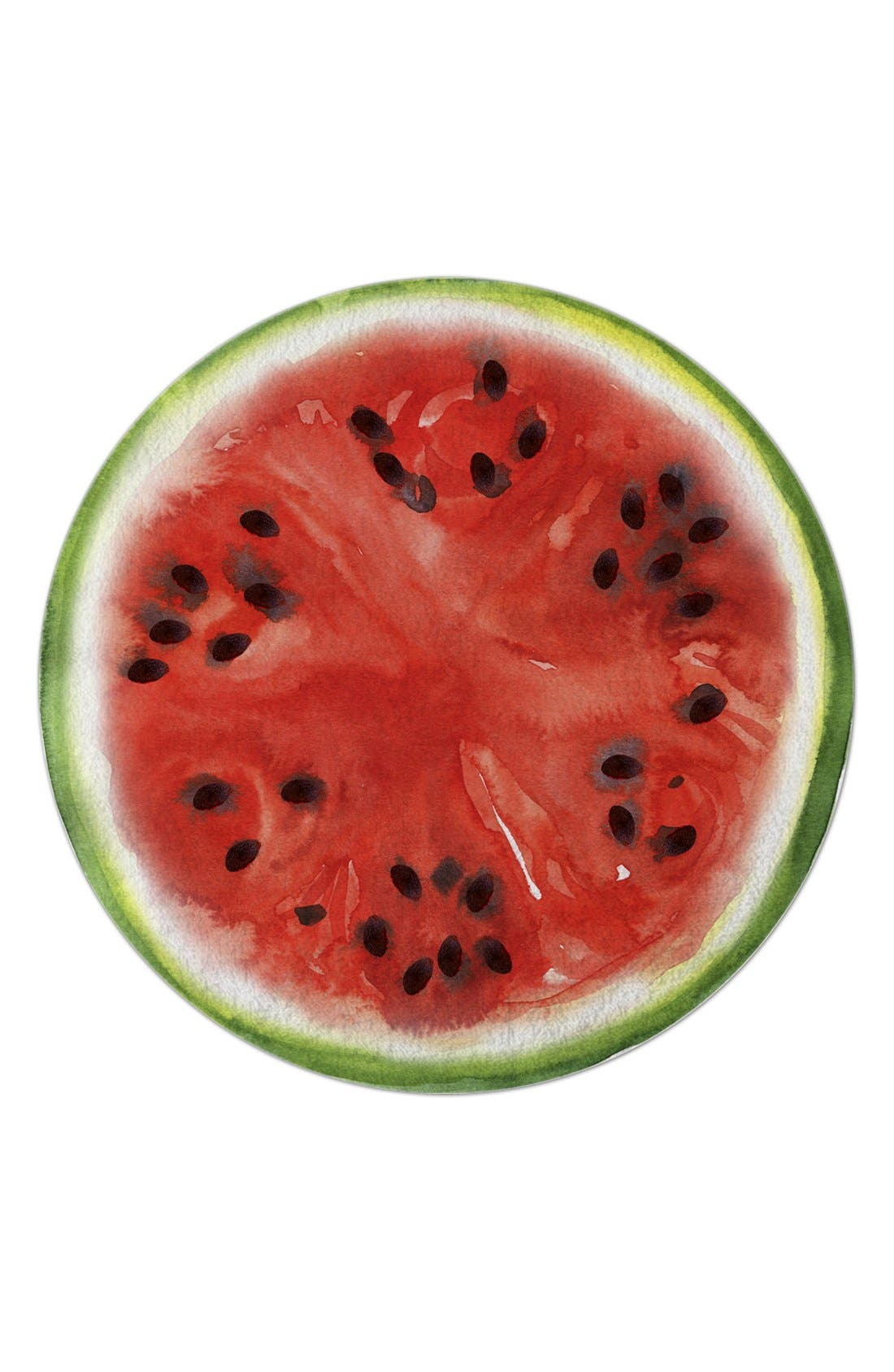 Alternate Image 1 Selected - Round Towel Co. Watermelon Round Beach Towel