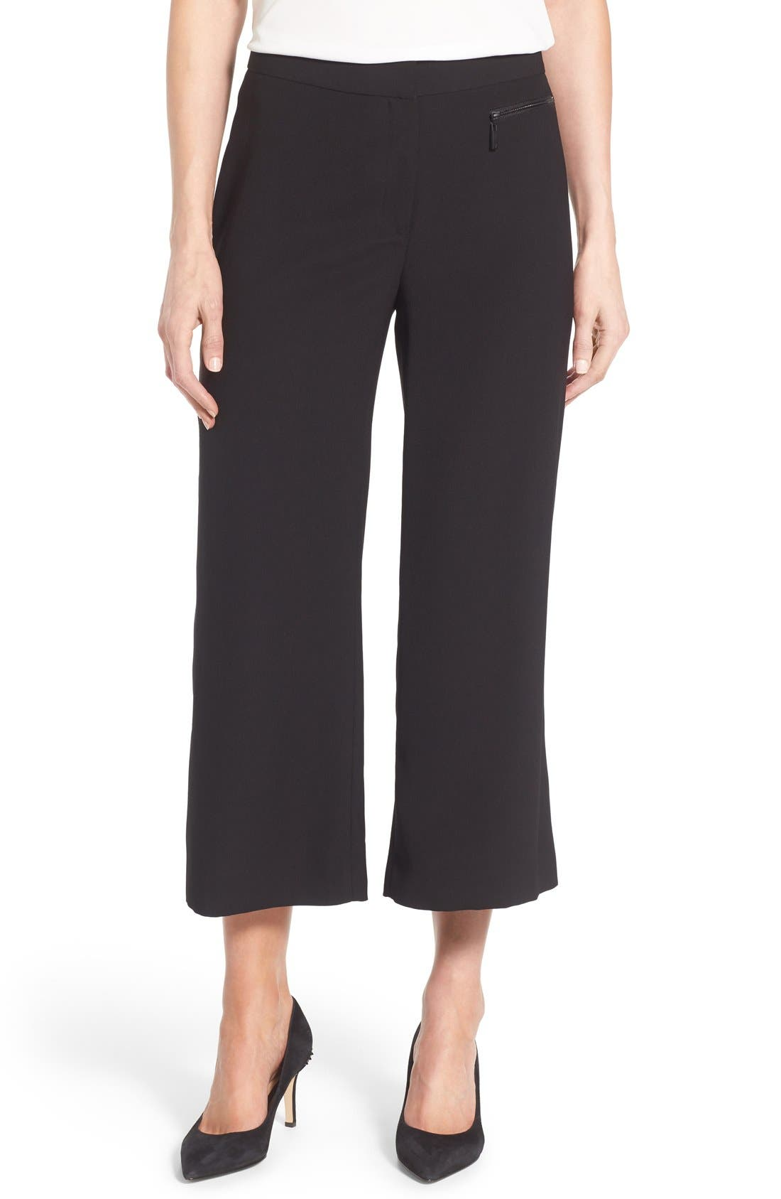 VINCE CAMUTO Zip Pocket Culottes