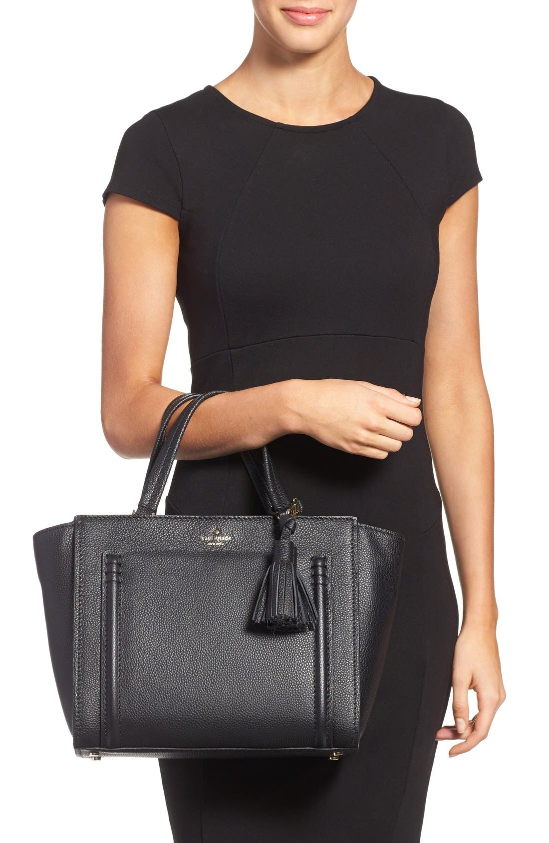Alternate Image 2  - kate spade new york 'orchard street - dillon' tassel leather satchel