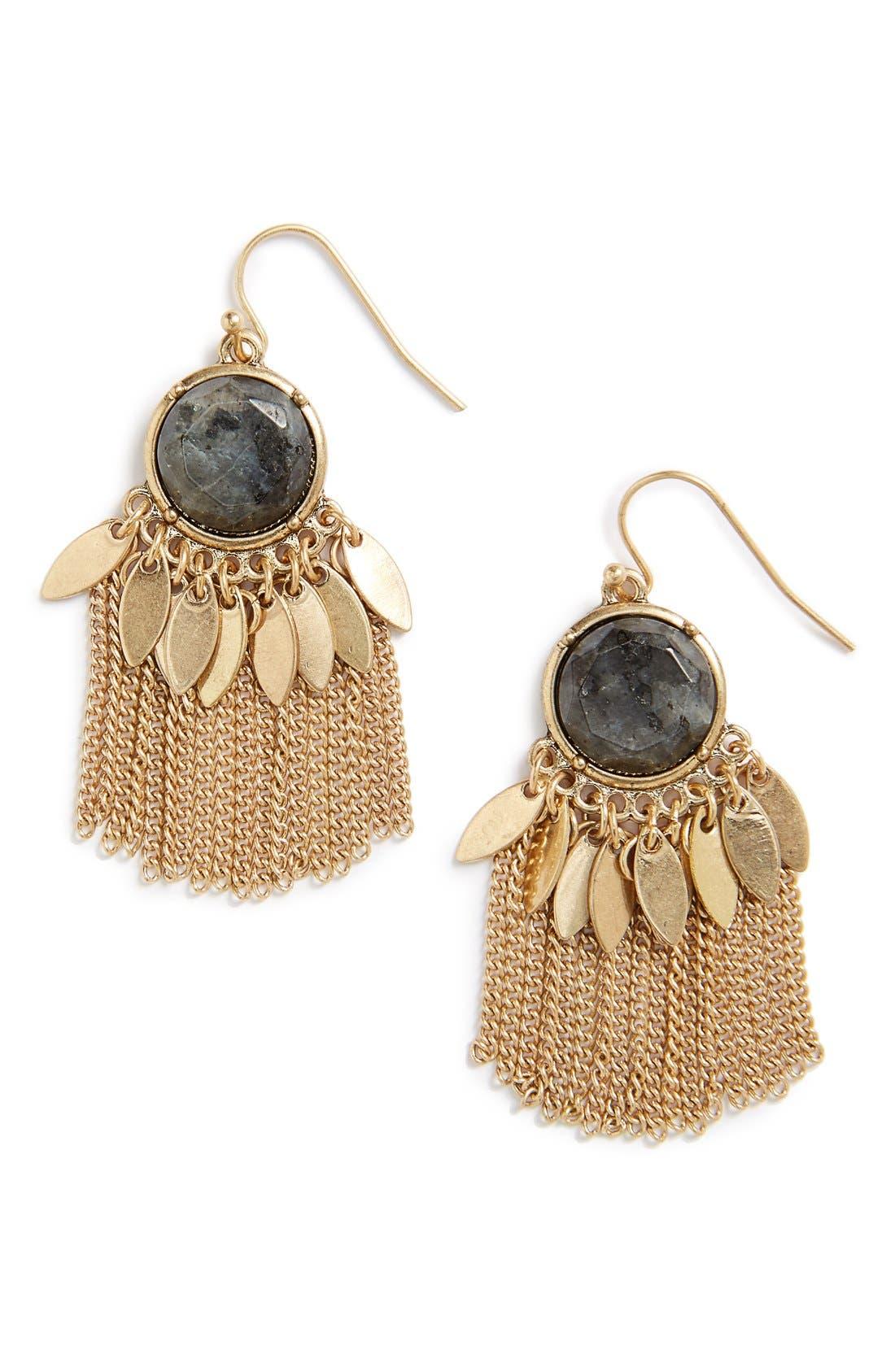 Main Image - Sole Society Deco Fringe Statement Earrings