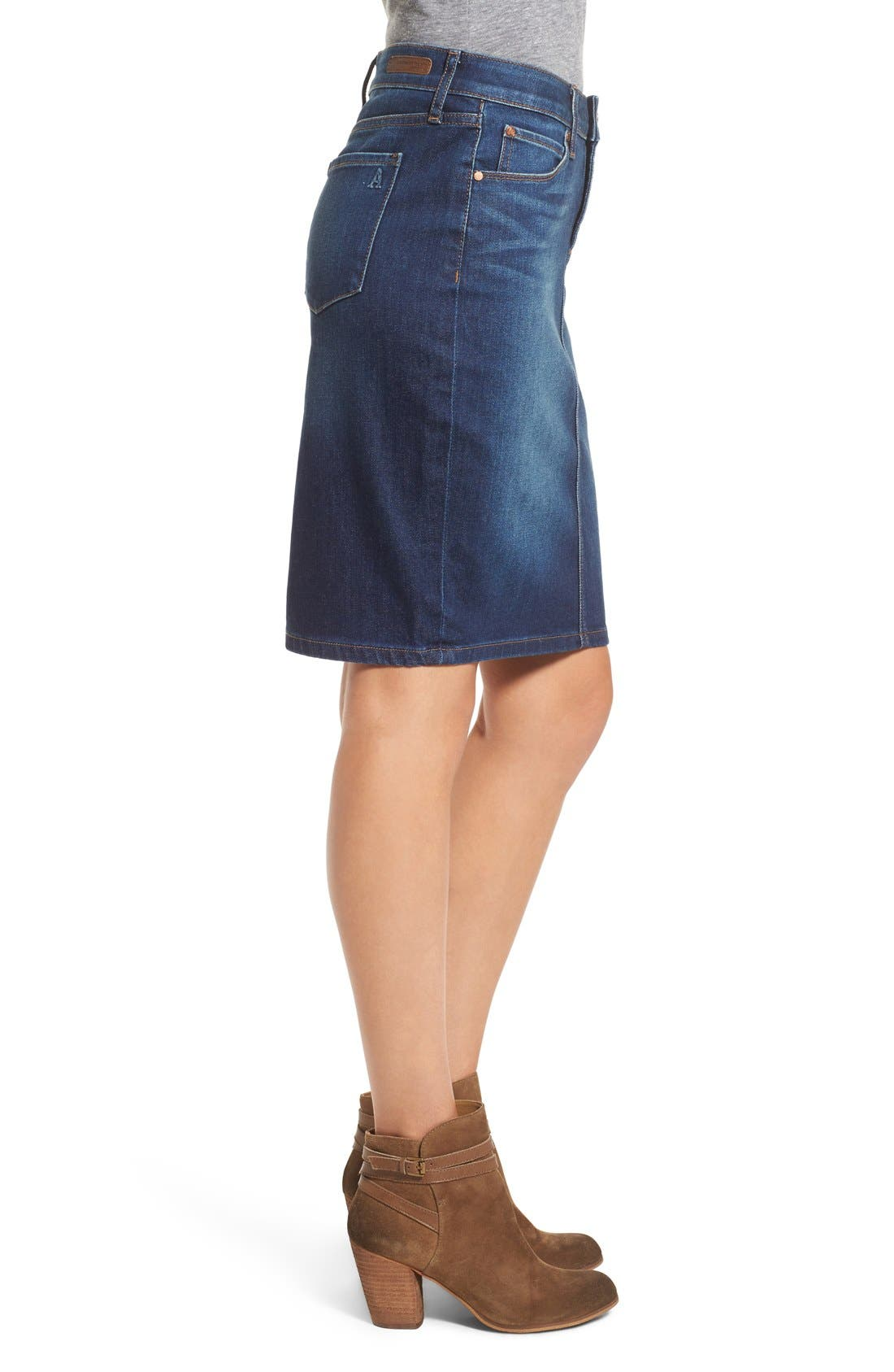 Alternate Image 3  - Articles of Society 'Penny' Denim Pencil Skirt (Del Ray)
