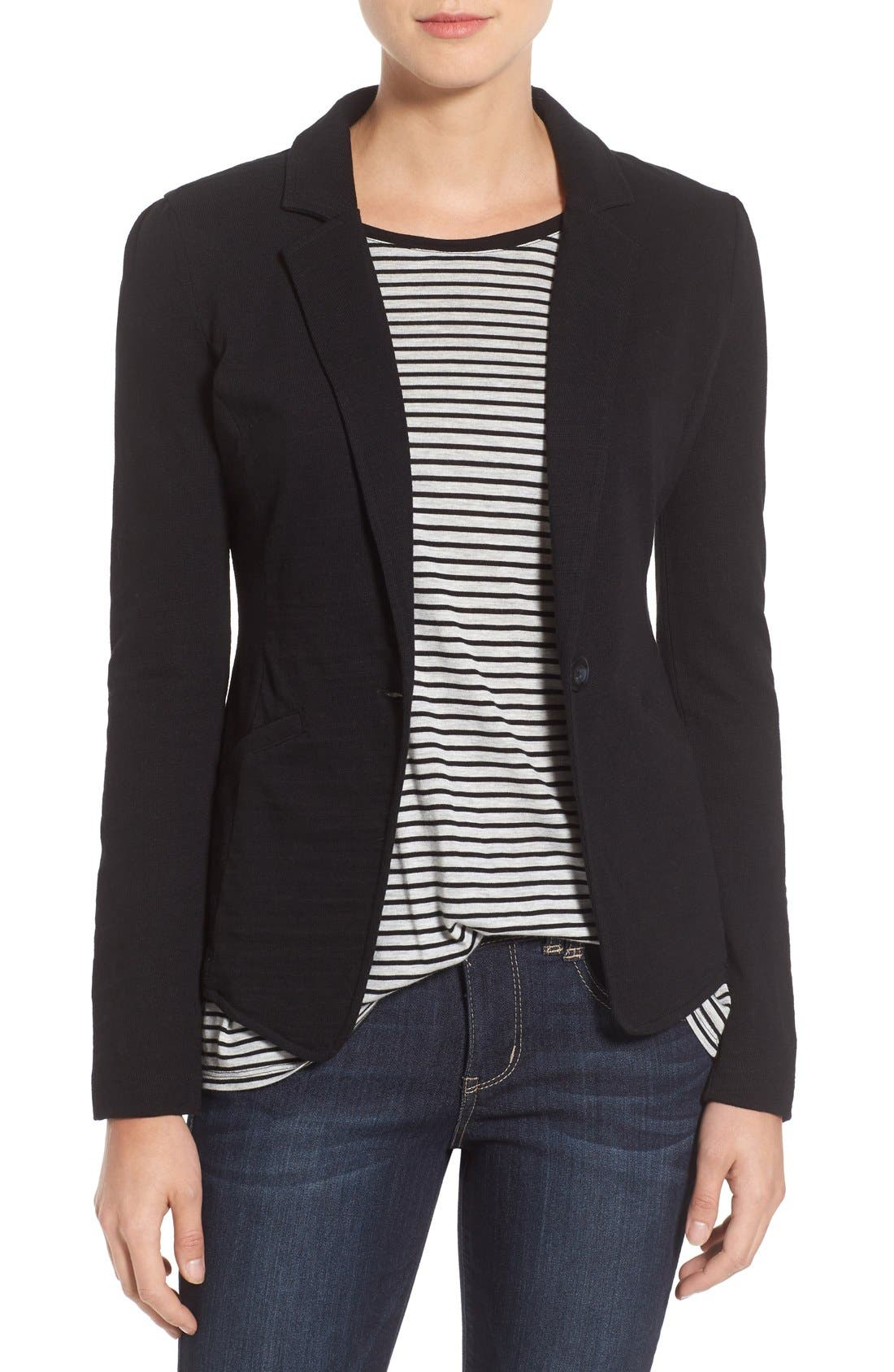 CASLON® Knit One-Button Blazer