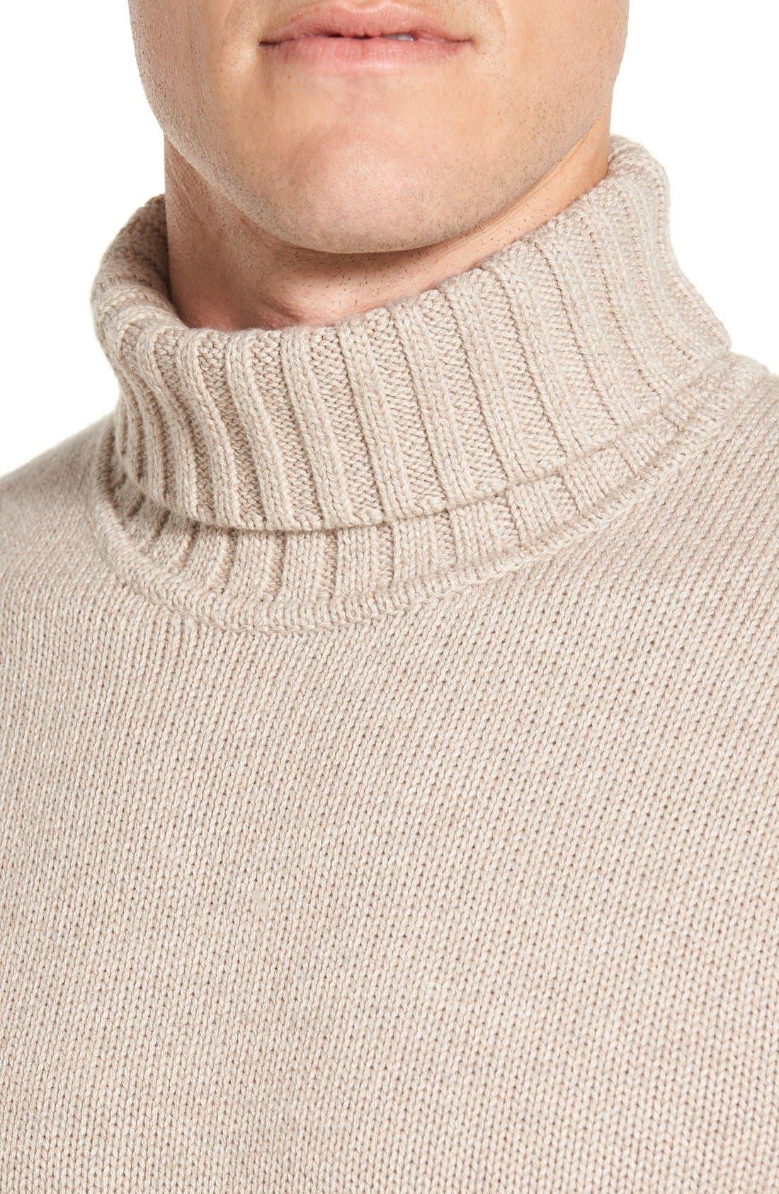Alternate Image 4  - Nordstrom Men's Shop Chunky Turtleneck Sweater (Regular & Tall)