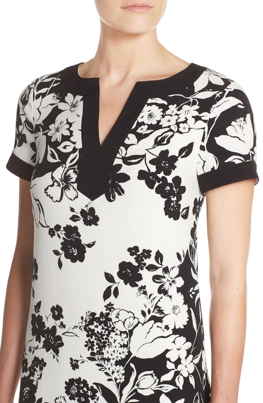 Alternate Image 4  - Adrianna Papell Floral Print Shift Dress