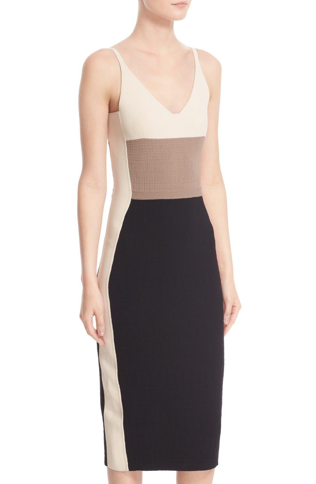 Alternate Image 5  - Narciso Rodriguez Colorblock Wool & Silk Knit Dress