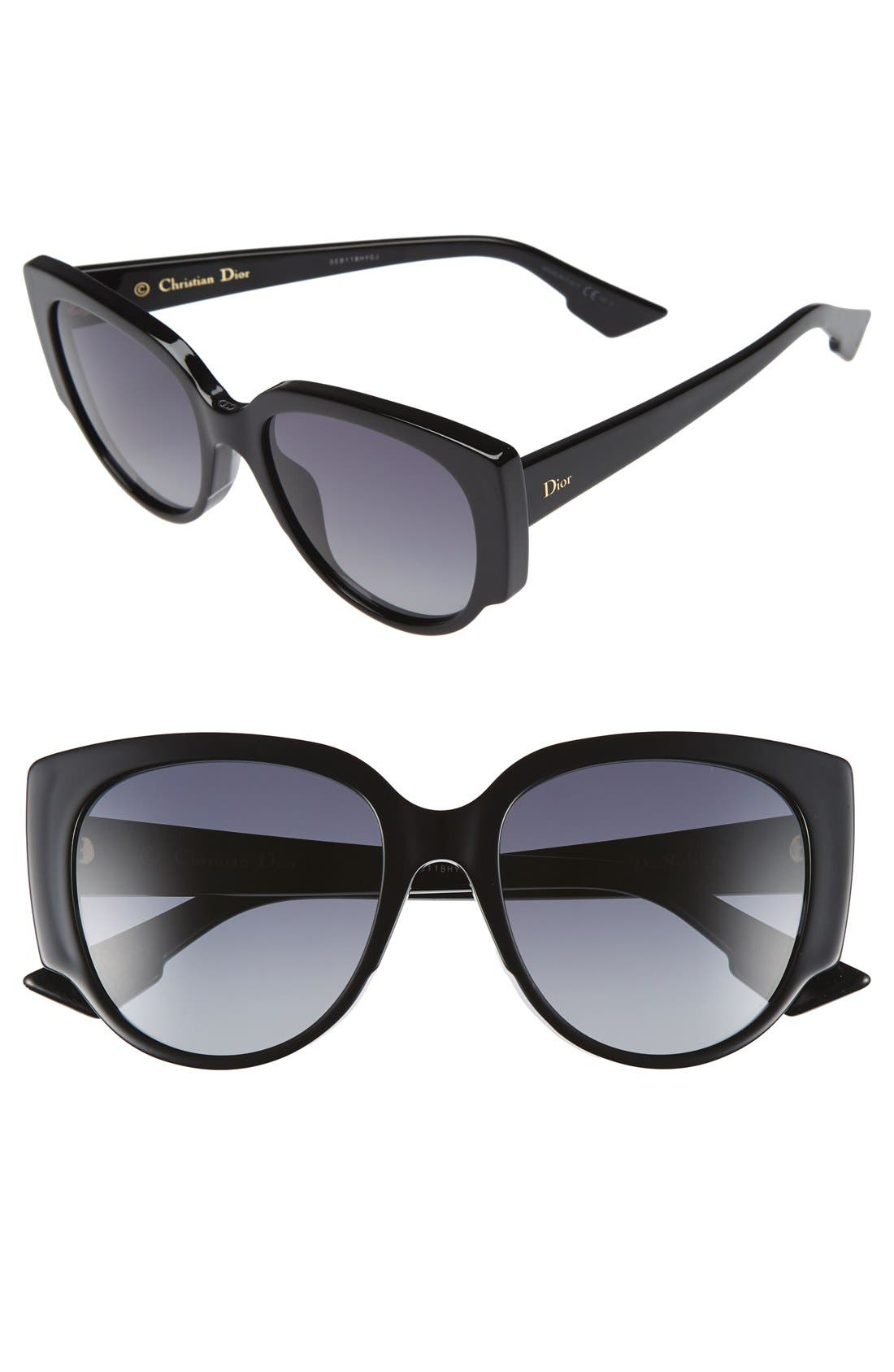 Dior 'Night' 55mm Cat Eye Sunglasses