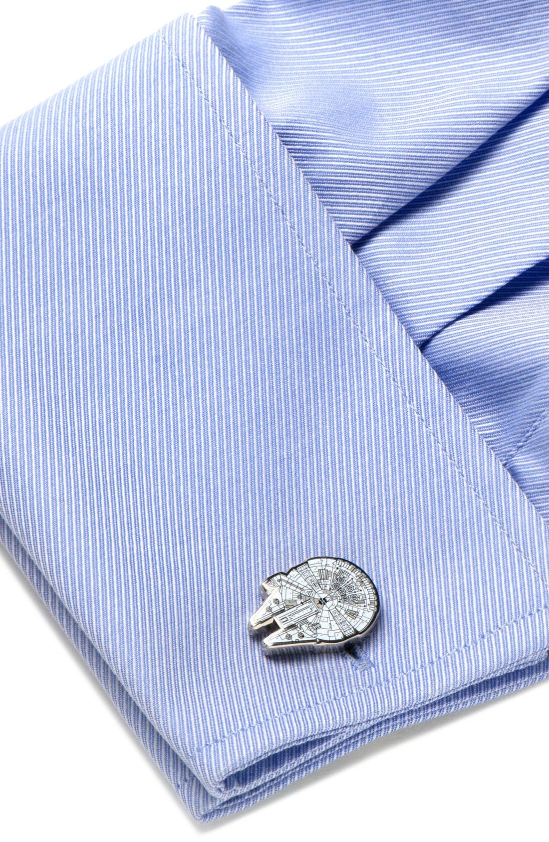 Alternate Image 2  - Cufflinks, Inc. 'Star Wars™ - Millennium Falcon Blueprint' Cuff Links