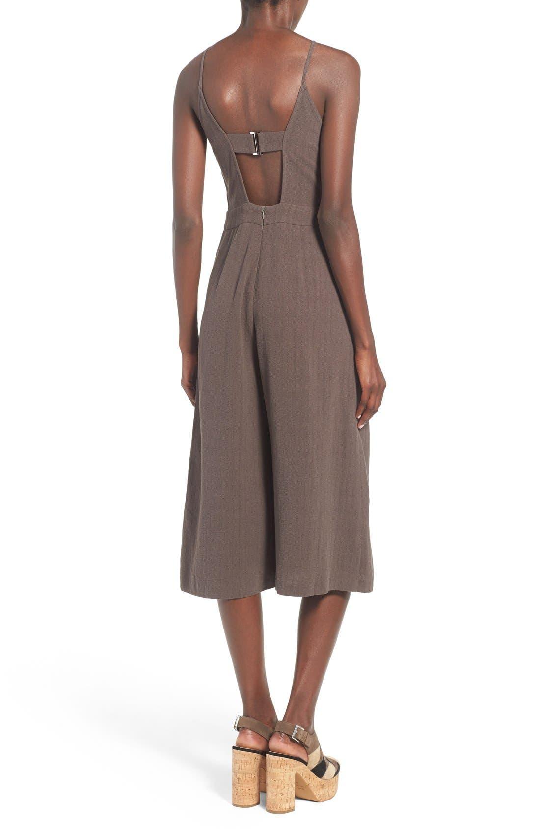 Alternate Image 2  - ASTR 'Peonia' Cotton & Linen Surplice Jumpsuit