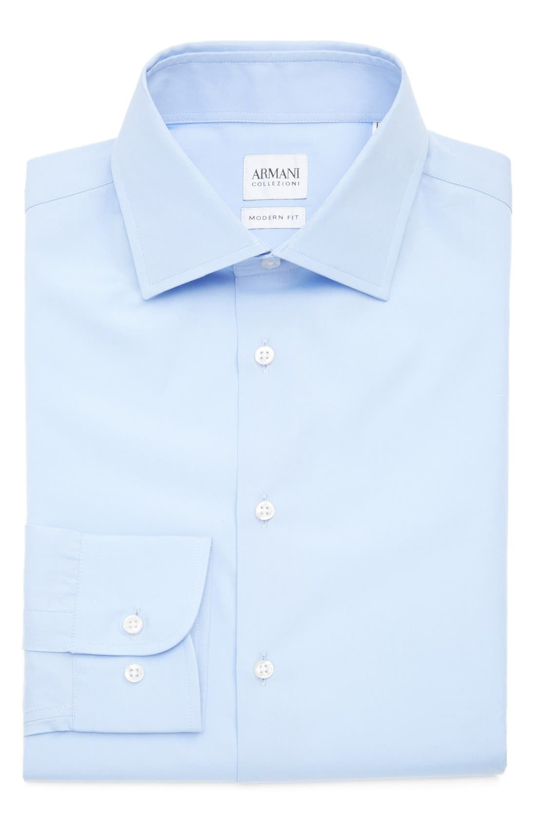 ARMANI COLLEZIONI Trim Fit Dress Shirt