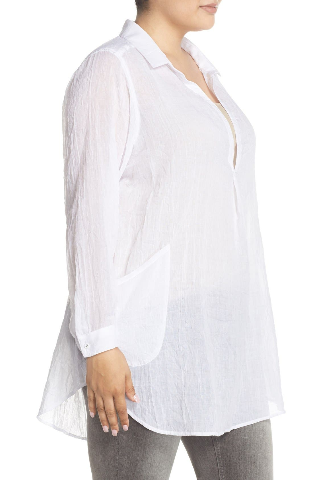 Alternate Image 3  - Melissa McCarthy Seven7 Patch Pocket Tunic Shirt (Plus Size)