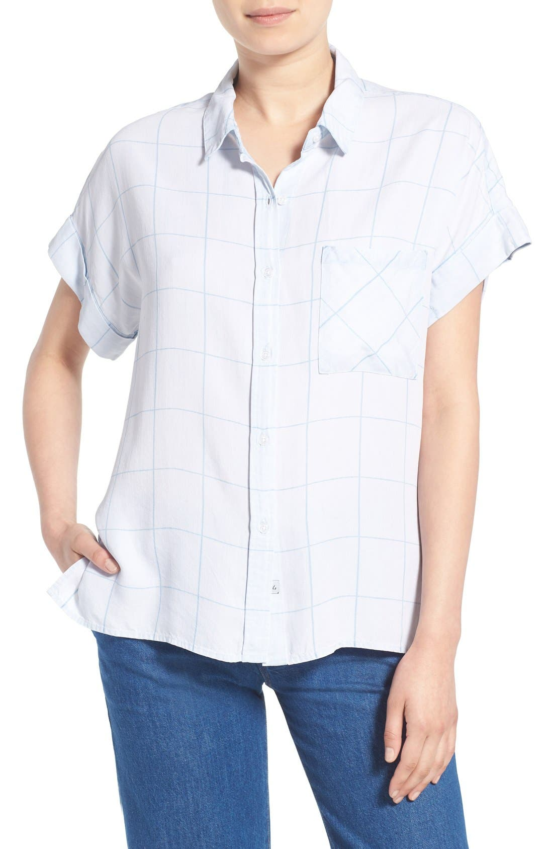 Alternate Image 1 Selected - Rails 'Whitney' Windowpane Print Top