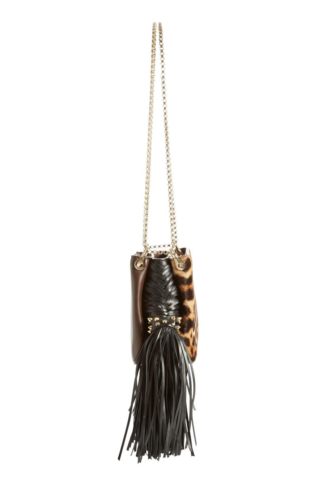 Alternate Image 4  - Christian Louboutin 'Small Triloubi' Leopard Print Calf Hair Handbag