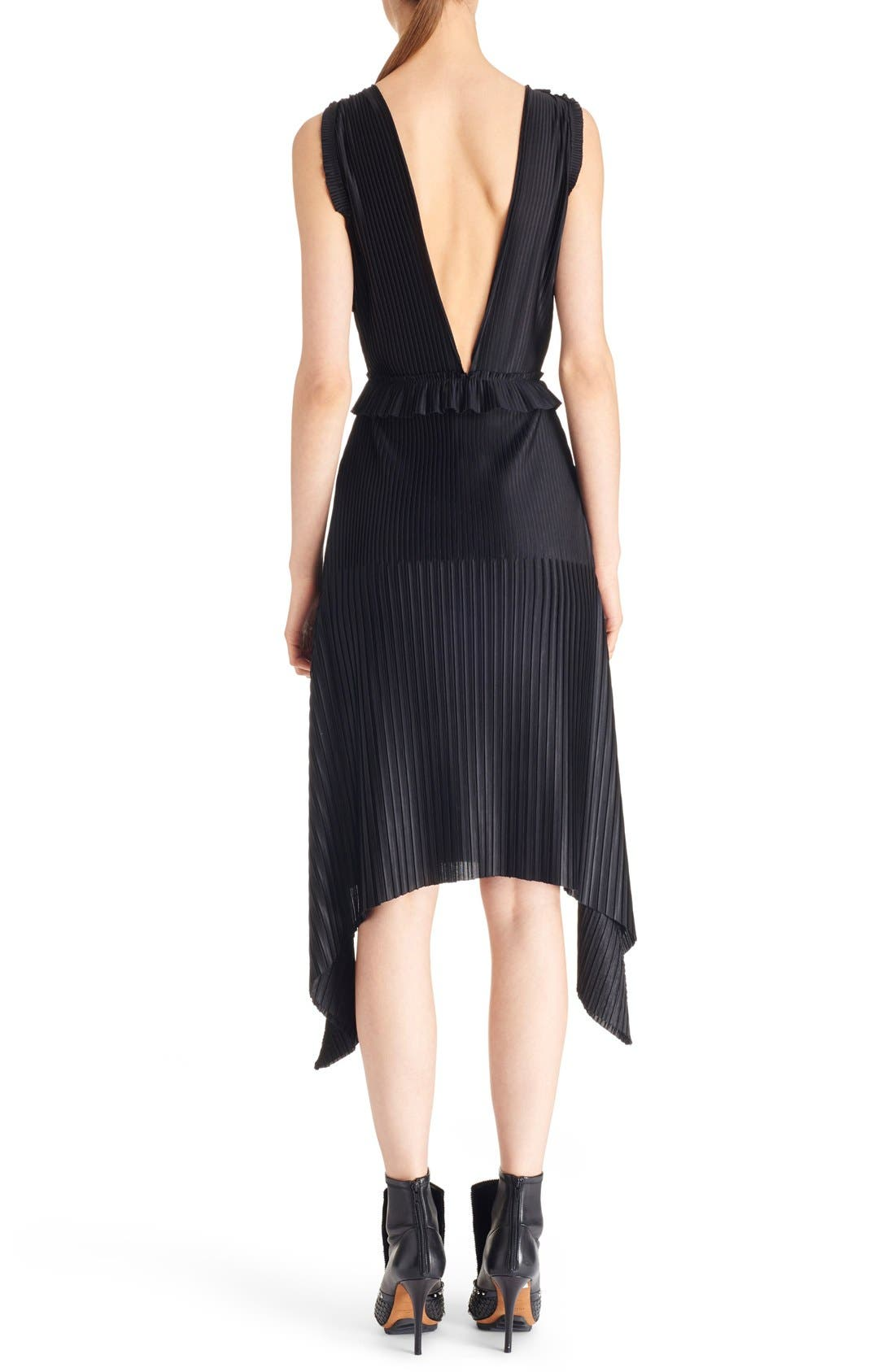 Alternate Image 2  - Givenchy V-Neck Pleated Jersey Dress