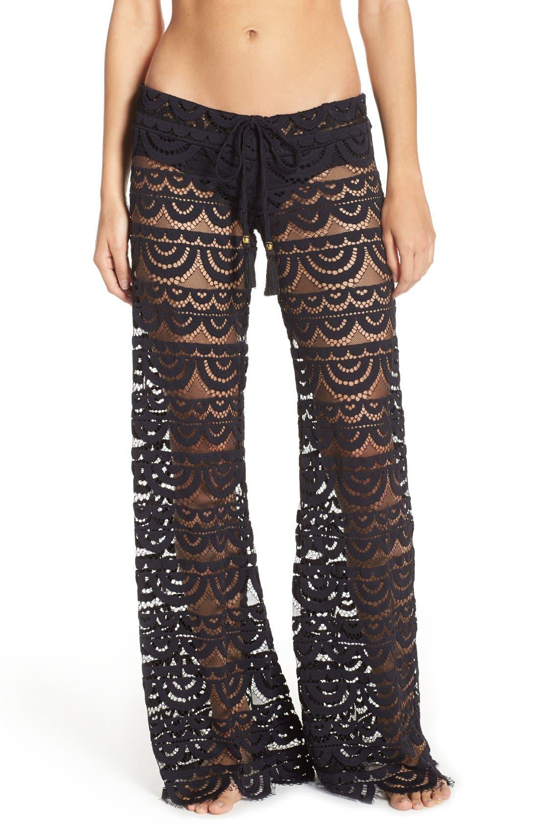 Alternate Image 1 Selected - PilyQ 'Malibu' Lace Cover-Up Pants