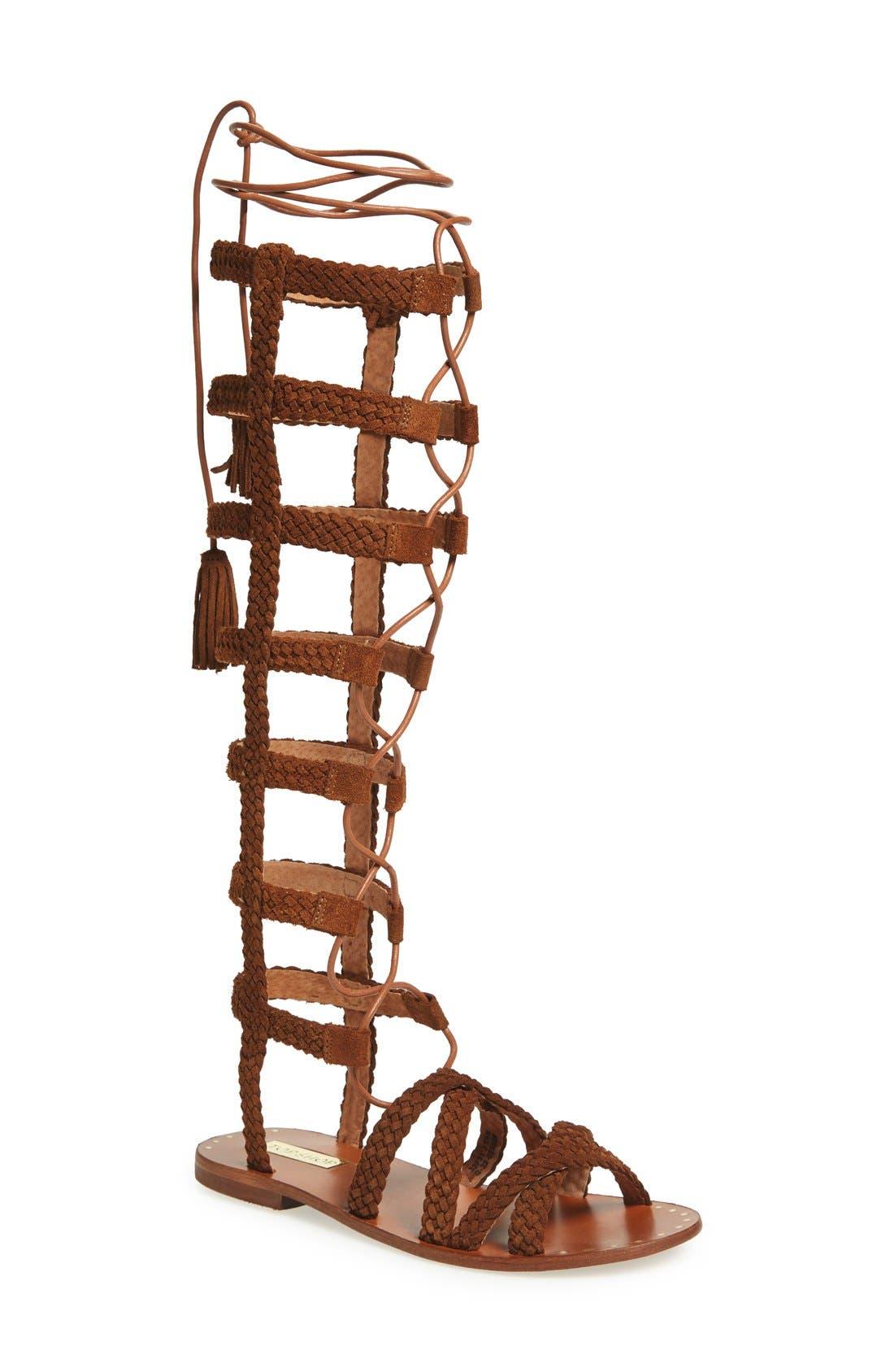 Main Image - Topshop 'Faraday' Lace-Up Gladiator Sandal (Women)