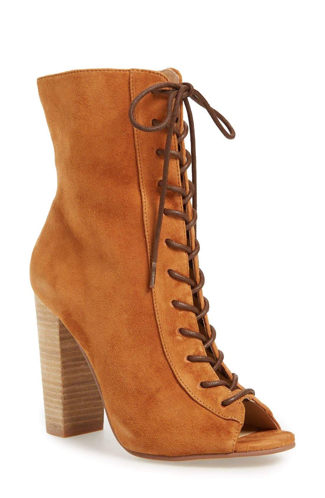 Alternate Image 1 Selected - Kristin Cavallari 'Lawless' Lace-Up Bootie (Women)