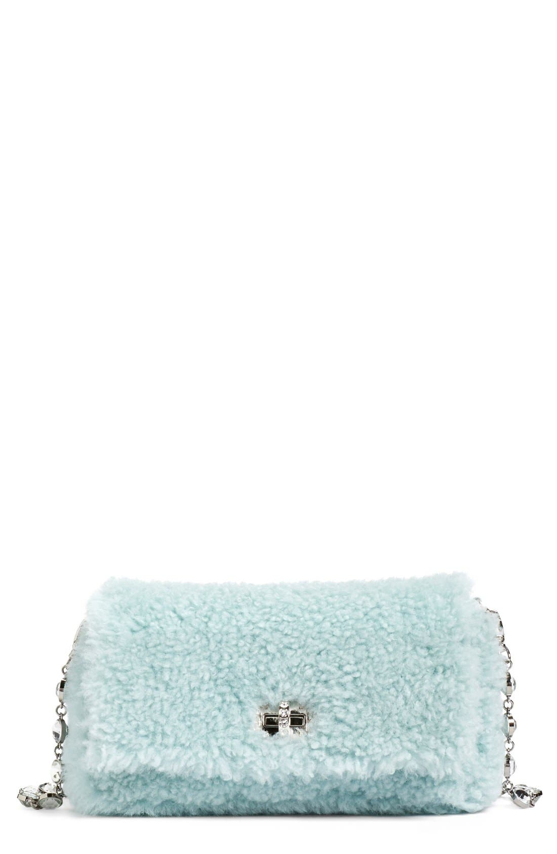 Main Image - Miu Miu Small Genuine Shearling Shoulder Bag