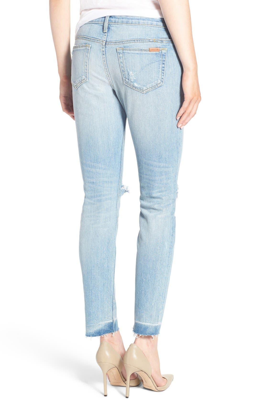Alternate Image 2  - Joe's 'Icon' Destroyed Ankle Jeans (Margie)