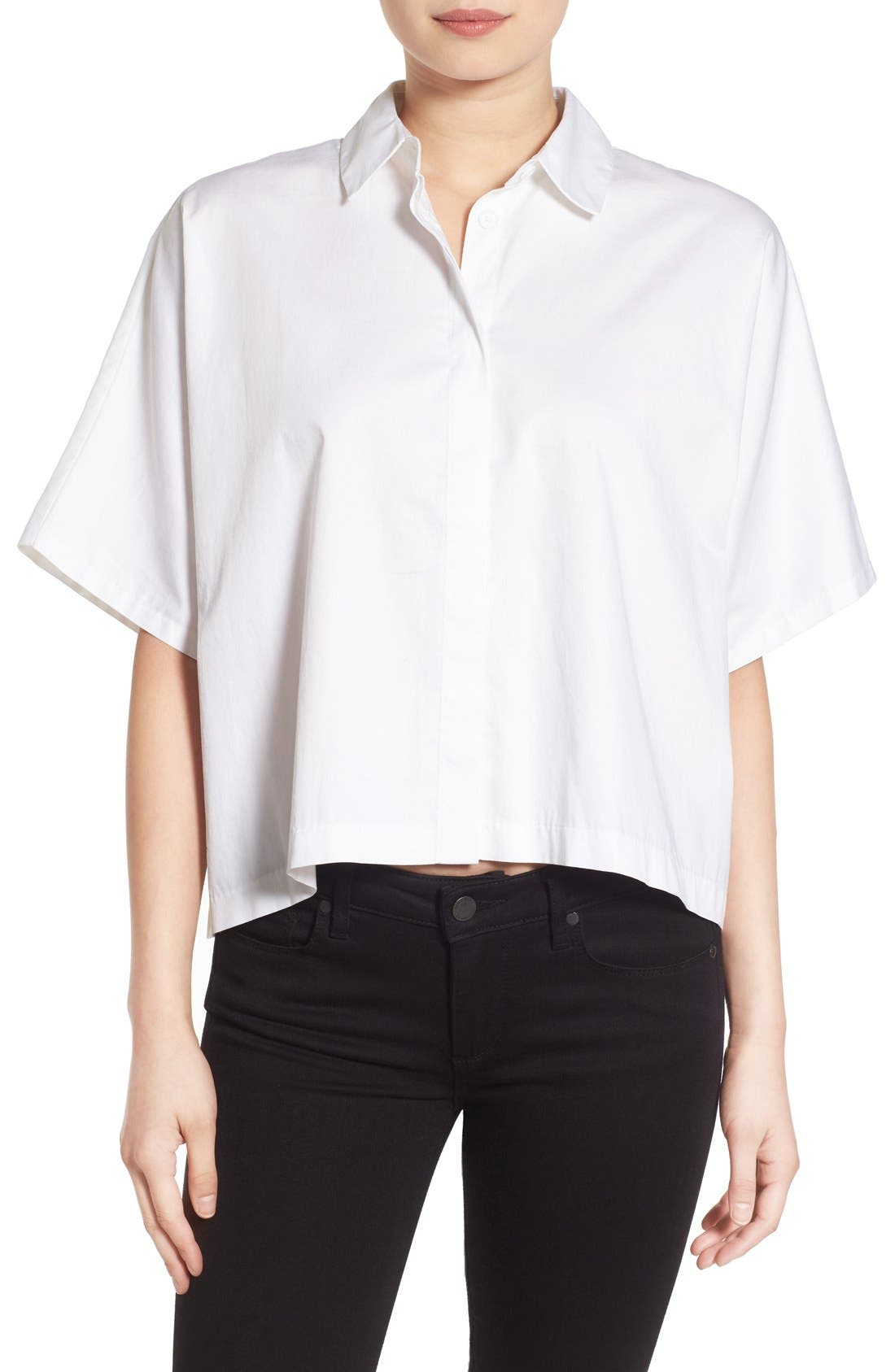 Alternate Image 1 Selected - KENDALL + KYLIE Back Lace-Up Shirt