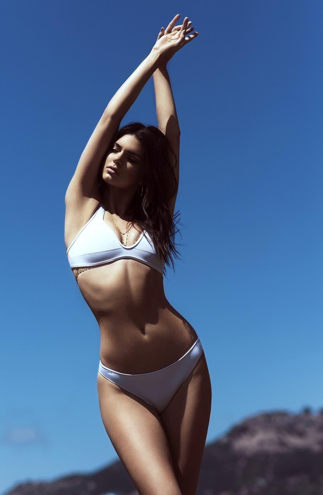Alternate Image 6  - KENDALL + KYLIE at Topshop Bonded Neoprene Bikini Top