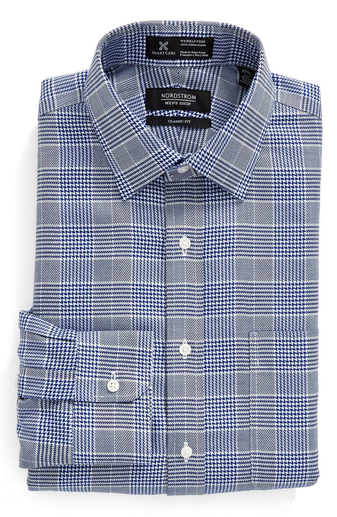 NORDSTROM MEN'S SHOP Smartcare™ Classic Fit Graphic Check